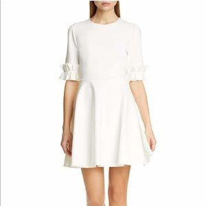 Ted Baker London 10 ritzy ruffle dress white $245